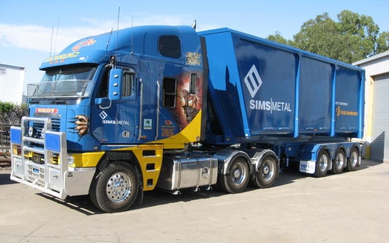 semi trailer on board scales