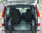 Mercedes benz vito rear view layout lift unfold position