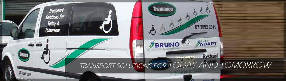Tramanco van with wheelchair loader