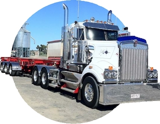Australian on-board truck scales fitted to grains bulk truck and trailers